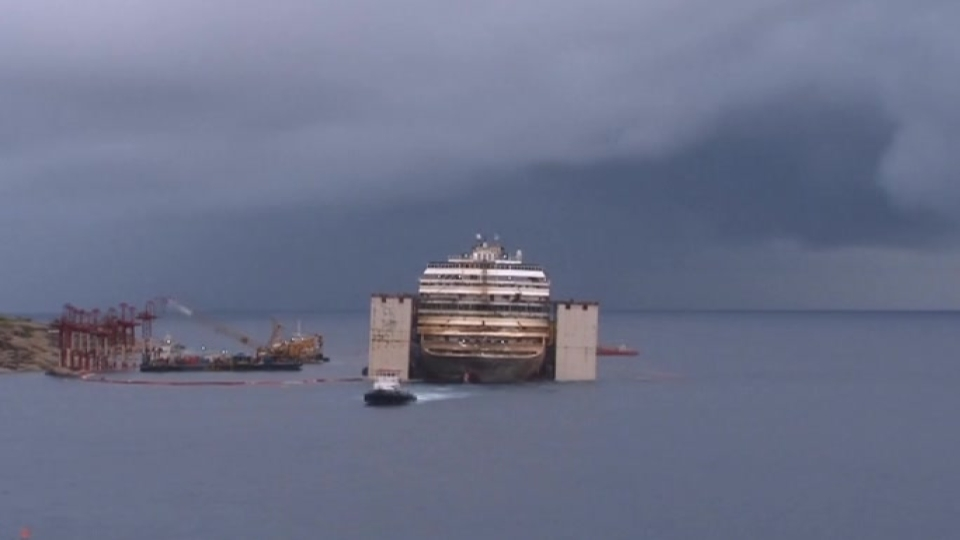 Time lapse of Costa Concordia