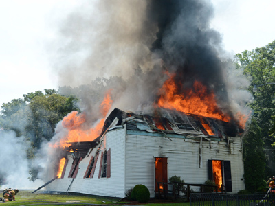 Raw: MD church built in 1773 ravaged by fire