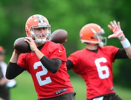 Hoyer, Manziel QB competition begins in Cleveland
