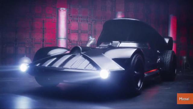 Hot wheels unveils life-size 'Darth Vader Car'