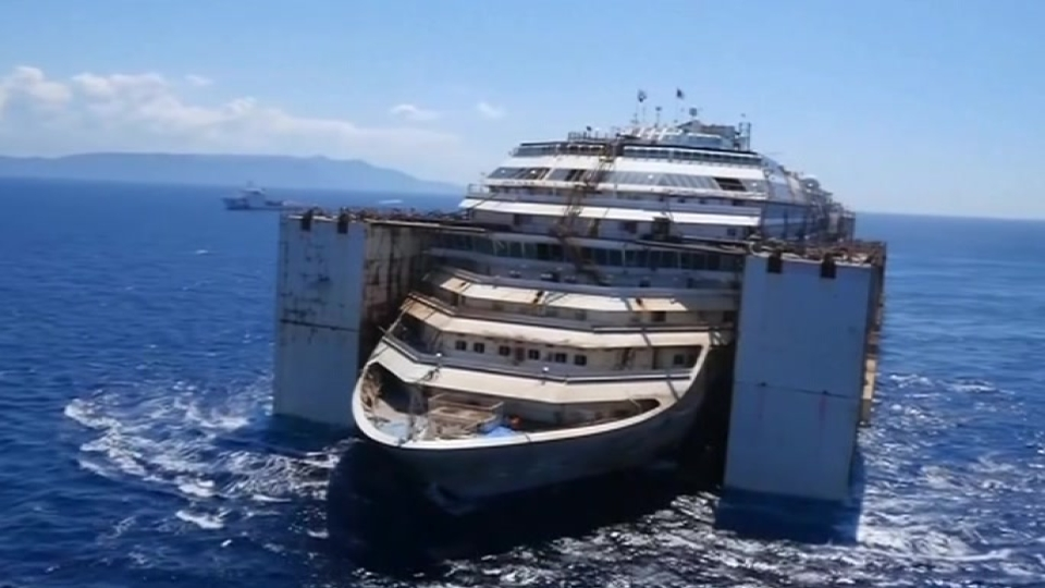 Drone Video Shows The Costa Concordia Heading Towards A