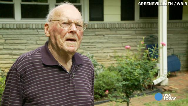 American flag stolen from 102-year-old WWII veteran