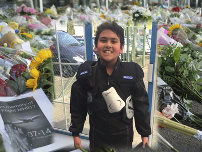 A young victim's premonition, hug before MH17