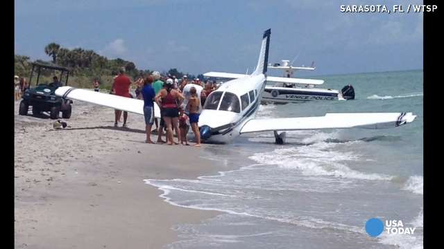 Plane crash on Florida beach kills dad, hurts daughter