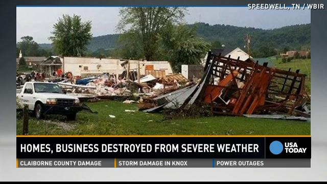Tornado leaves extensive damage to East Tennessee