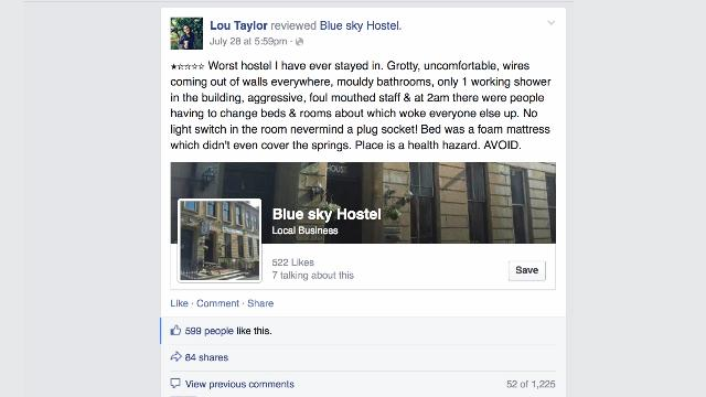 Vicious Facebook war between hostel owner and unhappy Guest goes viral
