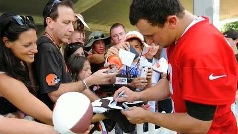 Can Johnny Manziel 'make news on the field?'