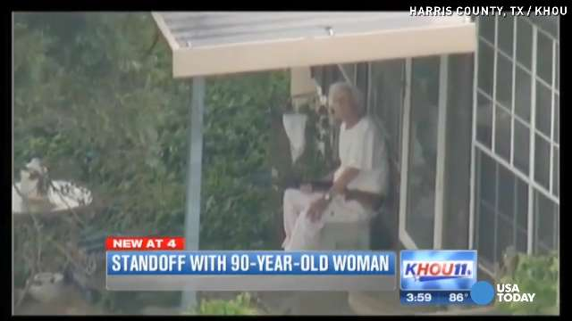 90-year-old woman stands off to police with shotgun