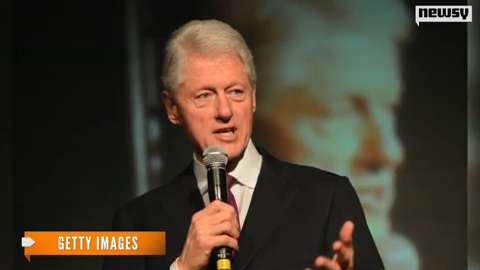 Former President Bill Clinton delivers a speech in Beverly Hills, Calif., in 2001.