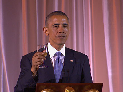 Obama toasts to a better Africa