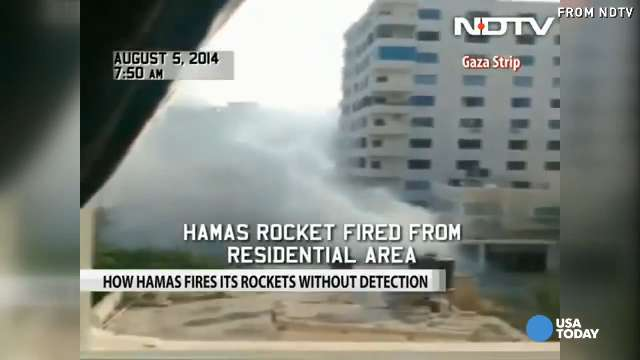 Rare video shows rocket launch from Gaza | USA NOW