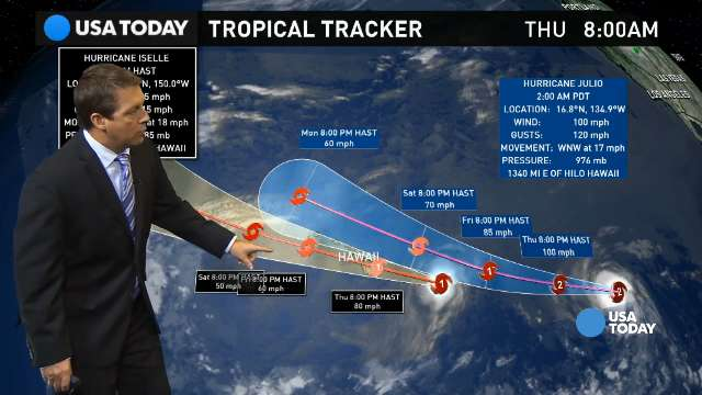 Hawaii braces for first hurricanes in 22 years