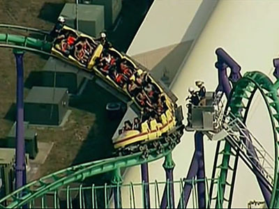 Riders wait 5 hours on stuck coaster