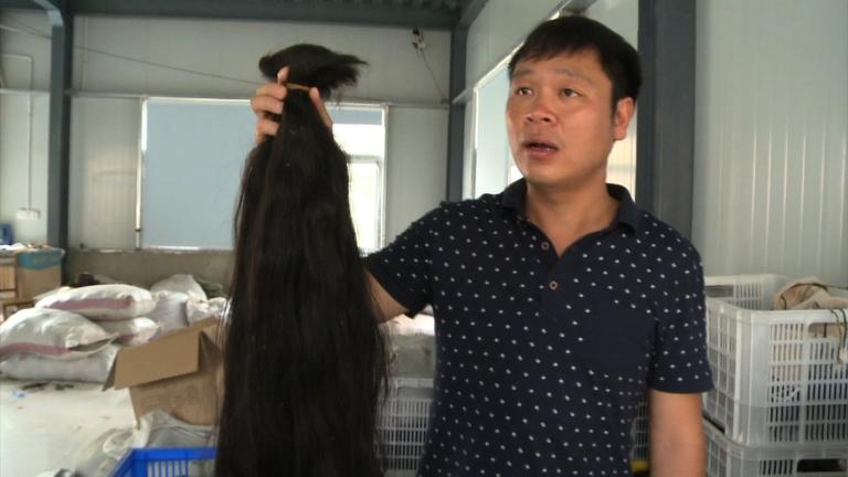 Chinese county exports human hair to Africa