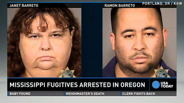 'Top 15 most wanted' fugitive couple caught in Oregon