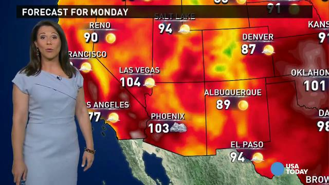 Monday's forecast: Hot and dry