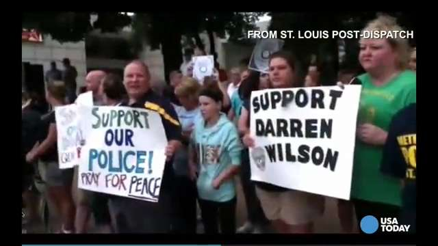Supporters rally behind officer who shot Brown | USA NOW