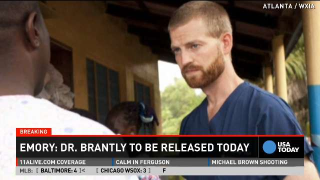 Ebola patient Dr. Kent Brantly to be released Thursday