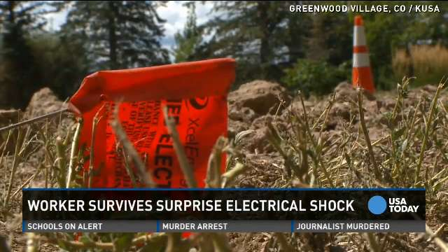 Man shocked with 13,000 volts lives to tell the story