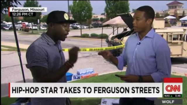 Rapper almost walks off CNN over Ferguson coverage