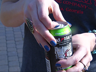 Microbrewery chooses special can for its beer