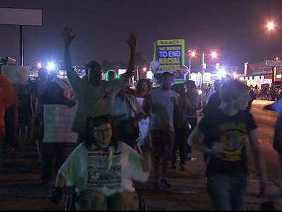 Raw: Smaller Marches in Ferguson