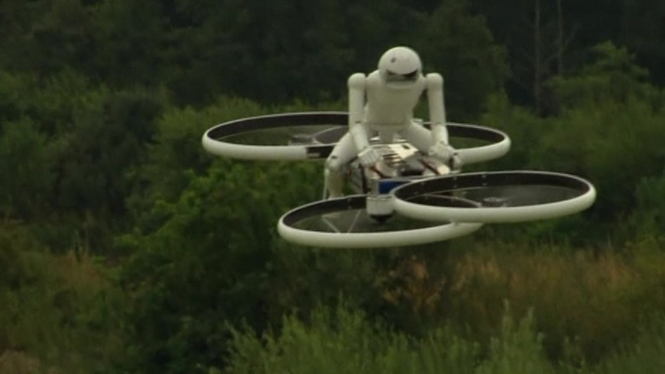 Is it a plane? No, it's a hoverbike