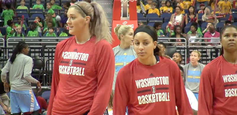 Bria Hartley and Stefanie Dolson reunited in the WNBA.