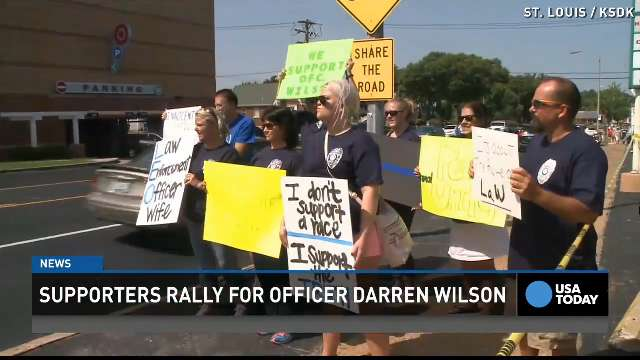 Supporters rally around officer who shot Michael Brown
