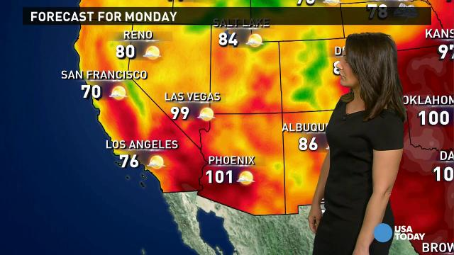 Monday's forecast: Cold front slices through U.S.