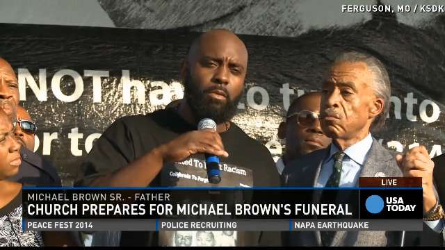 Michael Brown's family prepares to say goodbye