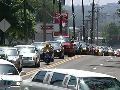Raw: Large funeral procession for Michael Brown