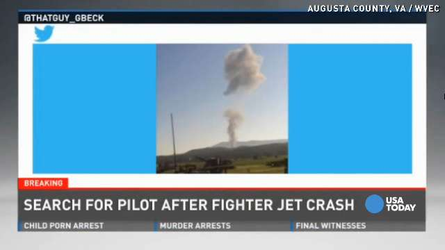 Search for missing fighter jet pilot goes through night