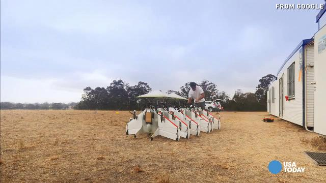 Project Wing is a GoogleX project that is developing a delivery system that uses self-flying vehicles.