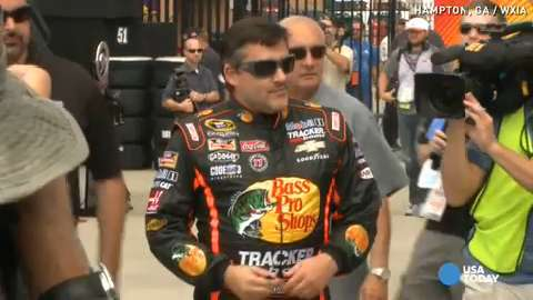 Tony Stewart mourns Kevin Ward Jr. as he prepares to race