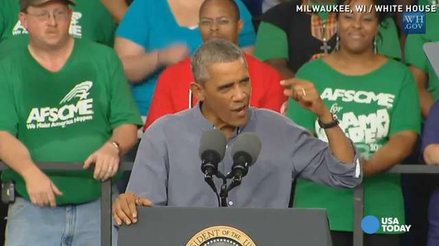 Obama fires up union workers at Laborfest