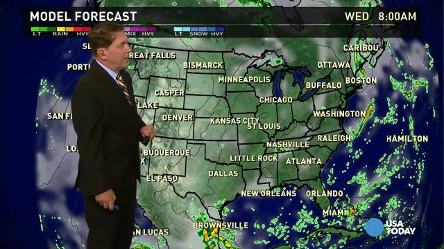 Tuesday's forecast: Cold front heads East