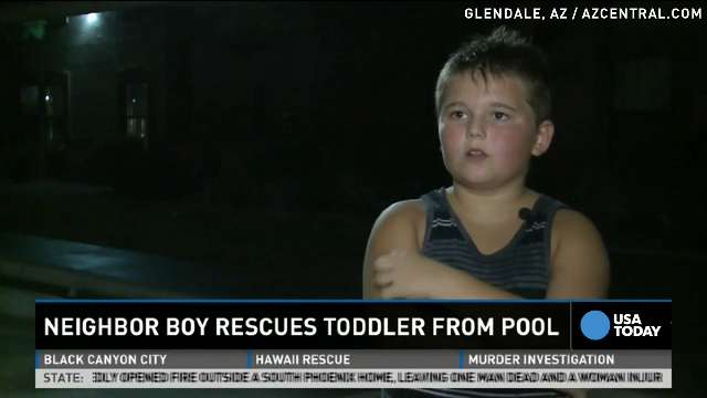 10-year-old saves drowning 3-year-old