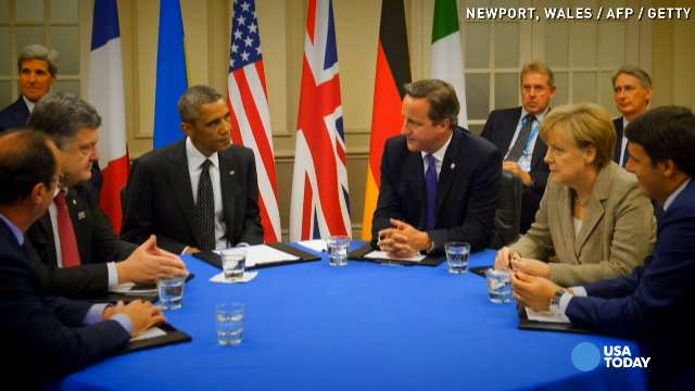 Obama, Cameron vow to face down 'barbaric killers' | USA NOW
