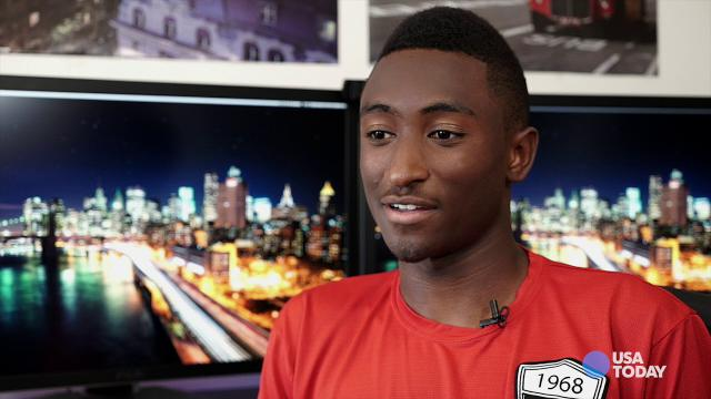 Marques Brownlee, a 20-year-old YouTube tech reviewer, at his Hoboken, N.J., apartment.