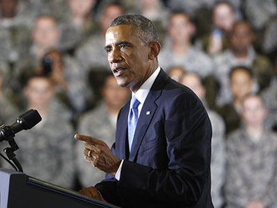 Obama reaffirms no combat troops to fight IS