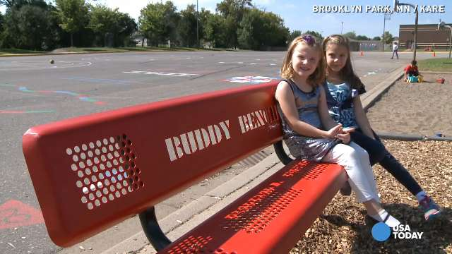 This playground bench has the power to stop bullies