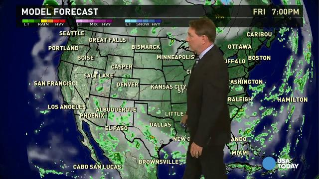 Friday's forecast: Storms hit along the Gulf Coast