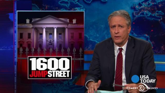 Jon Stewart jokes about the security problems at the White House.