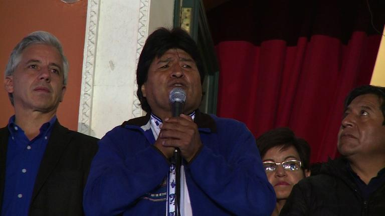 Bolivia's morales earns third term in landslide victory