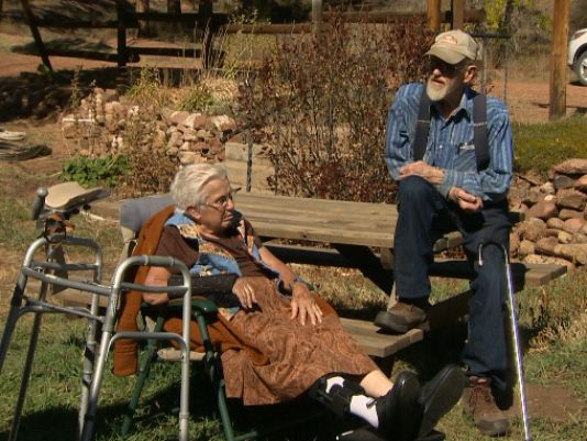 Self-sufficient couple has lived off land for 61 years
