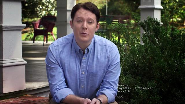 Clay Aiken, who's running for the U.S. House in North Carolina's 2nd District, answers questions during the taping of a debate with Rep. Renee Ellmers on Oct. 6, 2014, at the Pinehurst Resort in Pinehurst, N.C.