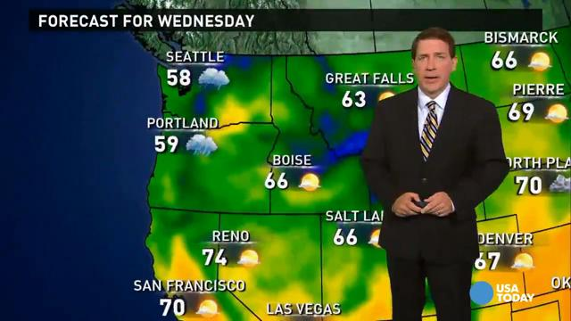 Wednesday's forecast: More rain on its way