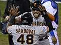 World Series: Giants rout Royals in Game 1