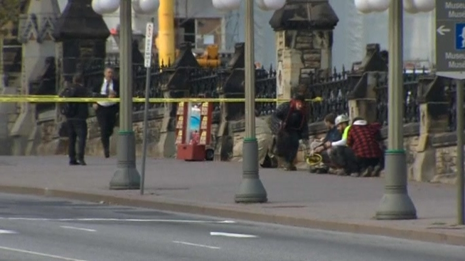 Soldier shot near Canadian parliament building